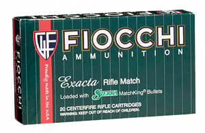 Fiocchi 223MKC Exacta Match 223 Rem 69 gr Sierra MatchKing Boat-Tail Hollow Point (BTHP) 20 Bx