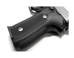 Hogue Extreme Aluminum Grips P220 - CHECKERED MATTE BLACK