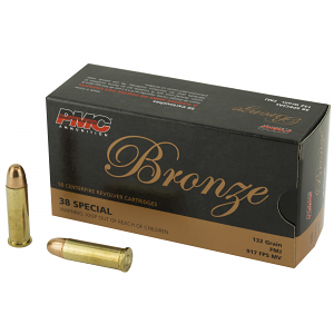 PMC 38G Bronze 38 Special 132 gr Full Metal Jacket (FMJ) 50 Box