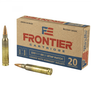 Frontier Cartridge 5.56mm 68 GR Hollow Point Boat Tail - 20RD