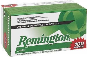 Remington Ammunition 23753 UMC 9mm Luger 115 gr Jacketed Hollow Point (JHP) 100RD Box