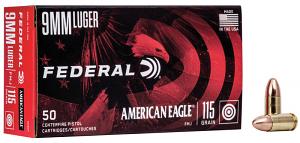 Federal AE9DP American Eagle 9mm Luger 115 gr Full Metal Jacket