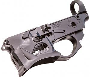 SHARPS BROS LLC SBLR02 Warthog Stripped Lower AR-15 Multi-Caliber Black Hardcoat Anodized