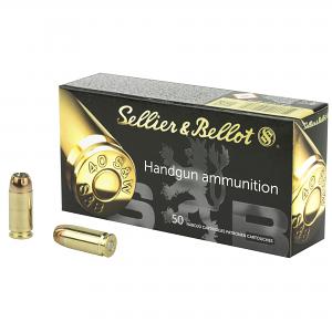 Sellier & Bellot SB40C Handgun 40 S&W 180 gr Jacketed Hollow Point