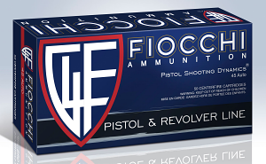 Fiocchi 45T500 Defense Dynamics 45 ACP 230 gr Jacketed Hollow Point