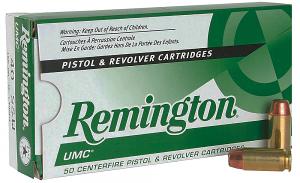 Remington Ammunition 23746 UMC 40 S&W 165 gr FMJ