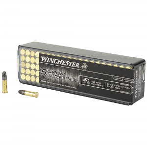 Winchester Ammo SUP22LR Super Suppressed 22 LR 45 gr Black Copper Plated Round Nose 100 RD