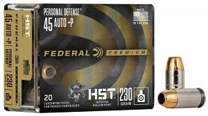 Federal HST .45ACP +P 230 GR. JHP - 20RD