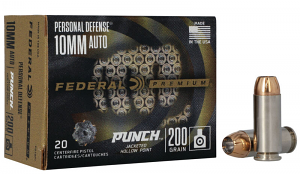 Federal PD10P1 Personal Defense Punch 10mm Auto 200 gr Jacketed Hollow Point