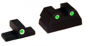 Ameriglo Tritium Night Sight Set - USP FULL SIZE - Green/Green