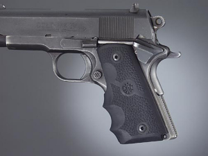 Hogue Rubber Finger Groove Grips 1911 OFFICER'S MODEL