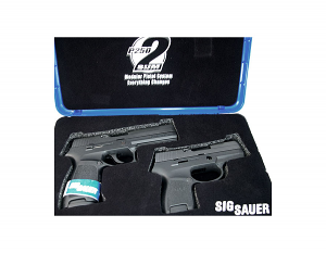 Sig Sauer P250 Full Size, with Sub-Compact X-Change Kit and Grip Module, 9mm, Nitron, Contrast Sights