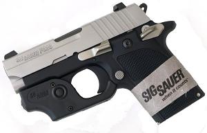 Sig Sauer P238 .380ACP, T-Tone, Night Sights, Aluminum Grips, SAO - Tactical Laser