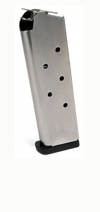 Check-Mate .45ACP, 7RD, SS, Wadcutter, Removable Base - Full Size 1911 Magazine