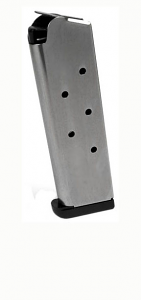 Check-Mate .45ACP, 7RD, SS, CMF, Removable Base - Full Size 1911 Magazine