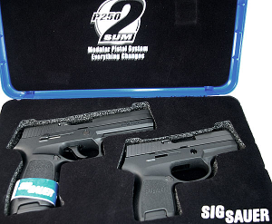 Sig Sauer P250 Full Size, with Sub-Compact X-Change Kit and Grip Module, .40SW, Nitron, Contrast Sights