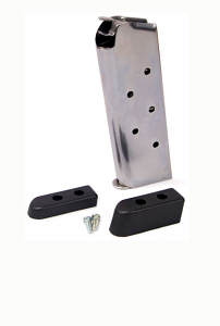 Check-Mate .45ACP, 6RD Compact, SS, Bumper Pads - Officer's Size 1911 Magazine