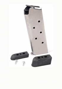 Check-Mate .45ACP, 7RD Compact, SS, Bumper Pads - Officer's Size 1911 Magazine