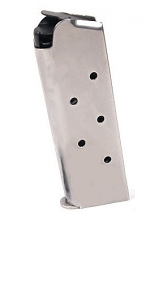 Check-Mate .45ACP, 7RD Compact, SS, Hybrid - Officer's Size 1911 Magazine