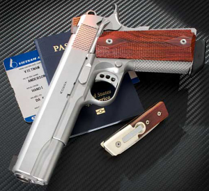 Ed Brown Kobra, 5 inch, .45ACP, S-Grey, 3.5 Trigger, BT, Engraved