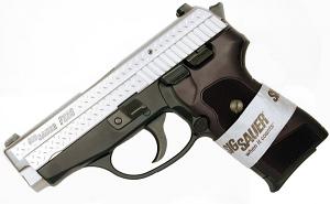 Sig Sauer P239 9mm, T-Tone DIAMOND PLATE, SigLite Night Sights, DA/SA