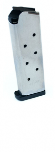 Check-Mate .45ACP, 8RD, SS, Hybrid, Removable Base - Full Size 1911 Magazine