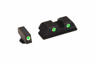 Ameriglo Tritium Night Sight Set - CLASSIC - Glock 9mm, .40, .357, .45 G.A.P. - Green/Yellow