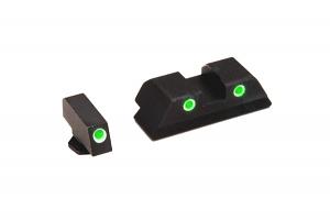 Ameriglo Tritium Night Sight Set - CLASSIC - Glock 10mm, .45, .357 - Green/Green