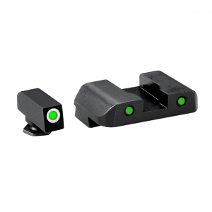 Ameriglo Tritium Night Sight Set - PRO OPERATOR SERIES - Glock 9mm, .40, .357, 45 G.A.P. - Green/Green