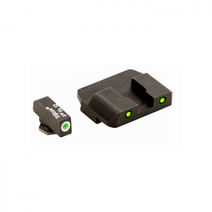 Ameriglo Tritium Night Sight Set - PRO OPERATOR SERIES - Glock 9mm, .40, .357, 45 G.A.P. - Green/Yellow
