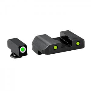 Ameriglo Tritium Night Sight Set - PRO OPERATOR SERIES - Glock 10mm, .45, .357 - Green/Yellow