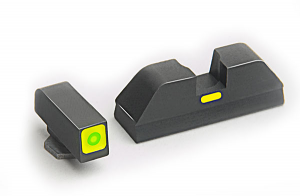 Ameriglo Tritium Night Sight Set - CAP - Glock 9mm, .40, .357, .45 G.A.P. - Green/Green
