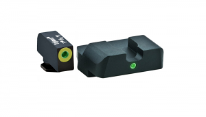 Ameriglo Tritium Night Sight Set - Pro i-Dot - Glock 9mm, .40, .357, .45 G.A.P. - Green/Green (lumi-lime outline)
