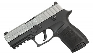 Sig Sauer P250 Compact, 9mm, Diamond Plate, Night Sights, DAO, New Style
