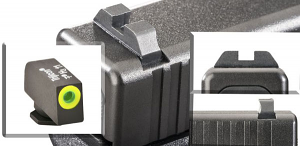 Ameriglo Tritium Night Sight Set - CLAW EMS - Glock 9mm, .40, .357, .45 G.A.P. - Black/Green