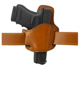 Gould & Goodrich Low Profile Belt Slide Holster 895, Right Hand, BROWN - UNIVERSAL MED AUTO/SM REVOLV