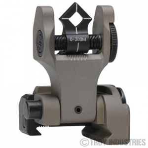 Troy Industries Di-Optic Aperture Rear Folding Battle Sight - FDE