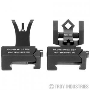Troy Industries Micro M4 Tritium Battle Sight Set - DOA Rear - BLK