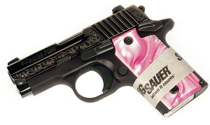Sig Sauer P238 .380ACP Nitron Engraved Pink, Night Sights, SAO