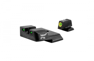 Trijicon HD Night Sight Set - S&W M&P - YELLOW OUTLINE FRONT