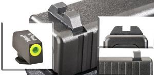 Ameriglo Tritium Night Sight Set - CLAW EMS - Glock 10mm, .45 - Black/Green