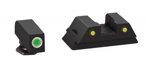 Ameriglo Tritium Night Sight Set - OPERATOR - Glock 42 - Green/Yellow