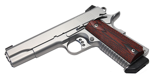 Ed Brown 9mm Special Config, 5 inch, SS, Night Sights - Skip-Line Checkering