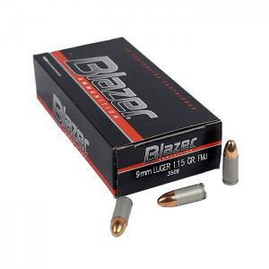 CCI Blazer 9mm Luger 115 GR. FMJ - Aluminum - 50RD