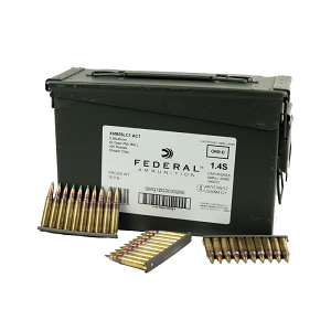 Federal M855 5.56 62GR. FMJ Penetrator Green Tip on Stripper Clips - 420 Round Case