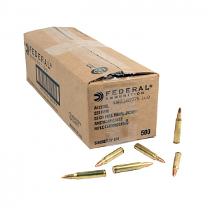 Federal American Eagle .223 55GR FMJ - 500RD Case