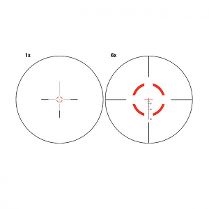 Red Segmented Circle/Crosshair
