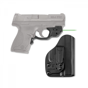 Crimson Trace Laserguard W/Bladetech IWB Holster - Smith & Wesson M&P Shield - Green