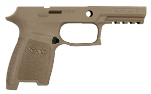 Sig Sauer P250/320 Grip Module Assembly, 9/40/357 Compact Large - Large Grip - New Style - FDE