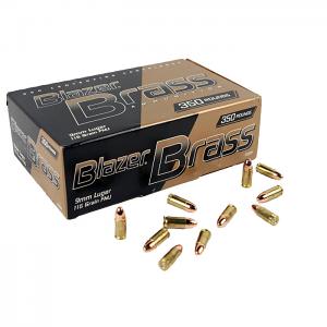 CCI Blazer Brass 9mm Luger 115 GR. FMJ - 350RD